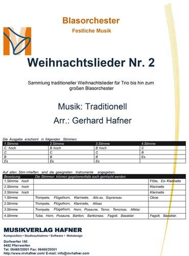 Weihnachtslieder Blasorchester.Weihnachtslieder Nr 2